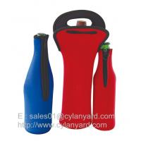 Wholesale Neoprene beer bottle cooler with zipper, high graded neoprene bottle coolers, from china suppliers