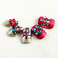 Buy cheap Red Pulple Blue Glitter Diamond Fake Nails Salon Cute Flower Art Nail from wholesalers