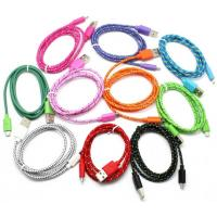 Wholesale Braided Fabric Micro USB Cable With 1 Meter Nicket Plated Bare Copper from china suppliers