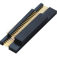 Wholesale 2.54mm Gold Flash PC 104 Connector 180° DIP  2.0AMP H=11.0 DIP=12.2 PPS black ROHS from china suppliers