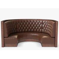 Wholesale Half Mood Upholster Microfiber Leather Booth Furniture For Restaurant Furniture from china suppliers