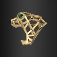 Wholesale Panthere DE Paris Gold Jewelry Ring 18K pink gold with Tsavorite and Onyx N4722500 from china suppliers