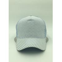 Wholesale Light Blue Mesh Pre Curved Baseball Caps Adjustable Strap For Hiking from china suppliers