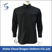 Wholesale Custom Black Police Officer Law Enforcement Shirts With Fake Pocket All Size from china suppliers