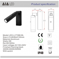 Wholesale Wall mounted bedside wall light led headboard wall light 3W & led reading wall light for hotel from china suppliers