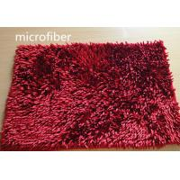 Wholesale Microfiber Mat Red 40 * 60cm Big Chenille Bathroom Indoor Anti - skid Rubber from china suppliers