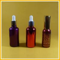 Wholesale 100ml Shiny Electroplated Glass Essential Oil Bottles / Plastic Spray Pump from china suppliers