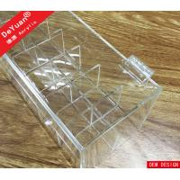 Wholesale Crystal Knob Clear Acrylic Lipstick Holder Box With Hinged Lid from china suppliers