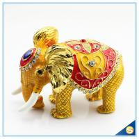 Wholesale Thai Style Elephant Enamel Ornaments Jewelry Box Home Furnishing Lucky Elephant Trinket Box from china suppliers
