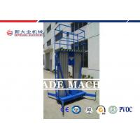 Wholesale 6-16M 120KG Mobile Aluminum Mast Climbing Work Platform With Dual Mast from china suppliers