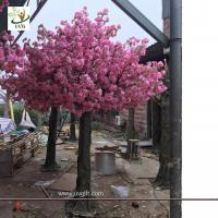 Wholesale UVG CHR142 Pink tall artificial trees with cherry blossom flowers for garden wedding decoration from china suppliers