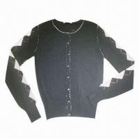 Quality 98% Rayon and 2% Spandex Ladies' Cardigan for sale