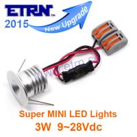 Wholesale ETRN Brand 2015 NEW DC12/24V 3W Round Super MINI LED Downlights Cabinet Light Spotlights from china suppliers