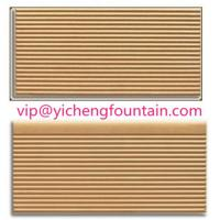Wholesale Durable Porcelain Swimming Pool Deck Tiles Eco - Friendly FINA Standard Ivory Color from china suppliers