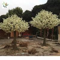 Wholesale UVG CHR143 party background decoration white artificial tree with cherry blossoms for wedding planner from china suppliers