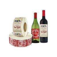 Wholesale Self Adhesive Wine Bottle Stickers in Roll , Wine Paper Label Sticker from china suppliers