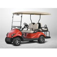 Wholesale Red Street Legal 4 Seater Golf Carts , Club Car Electric Golf Cart With Yamaha LED Lights from china suppliers