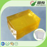 Buy cheap Yellow transparent Block Synthetic Polymer Resin Industrial Strength Hot Glue , Medical Plaster Hot Melt Glue from wholesalers