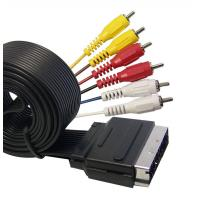 Wholesale Flat Scart Cable,Scart Plug to 6RCA Plugs from china suppliers