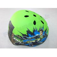 Wholesale Toddler / Youth / Kids Inline Skating Helmets 5 Air Vents , Green Mountain Biking Helmets from china suppliers