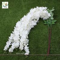Wholesale UVG Wedding favor with white cheap silk artificial wisteria flower for party decoration from china suppliers
