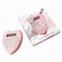 Wholesale Pink Heart-shaped Calculator, Good as Wedding Gift and Velentine's Day Gift from china suppliers