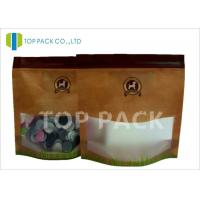 Wholesale 200G Pet Food Packaging Matte Effect Stand Up Zipper Bags Matted Window from china suppliers