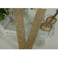 Wholesale Diy Christmas Decor Gold Glitter Letters , Wedding Party Glitter Alphabet Letters from china suppliers