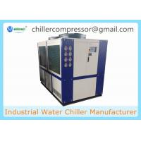 Quality 109kw 30 Ton Air Cooled Scroll type Refrigeration Water Chiller with Internal Tank and Water Pump for sale