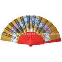 Quality Stylist Design Printed Personalized Wedding Favors Hand Fan Rustic And Luxury for sale