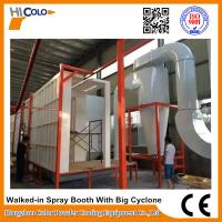 Wholesale Automatic Powder Coating Spray Booth With Big Cyclone Long Service Life from china suppliers