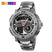 Wholesale Silver Metal Case Timex Analog Digital Watches Shock Resistant from china suppliers