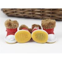 Wholesale Party anti slip S , M , XL pet dog shoes winter With chamois from china suppliers