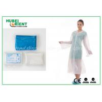Wholesale Waterproof Disposable Lab Coats , Transparent Plastic PE disposable visitor coats from china suppliers