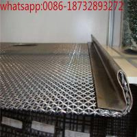 Wholesale decorative carbon steel Woven crimped wire mesh/Steel Crimped Wire Mesh Vibrating Screen crusher screen mesh from china suppliers
