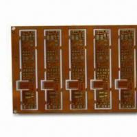 Wholesale Flexible PCB with 0.25mm Minimum Hole and 0.075mm Minimum Trace Width from china suppliers