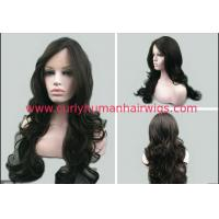 Wholesale 7A Black Deep Wave Natural Human Hair Wigs No Shedding No Tangle from china suppliers