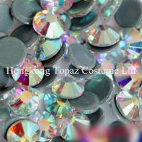 Wholesale top quality clear ab hot fix crystal strass preciosa crystal stone for clothing from china suppliers