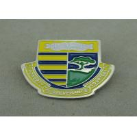 Wholesale School Die Stamped Soft Enamel Pin With Brooch , Iron Badge Pin from china suppliers