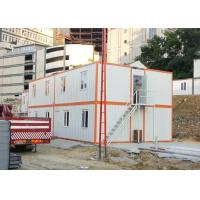 Wholesale Galvanized Steel Prefab 20FT Container House With Four Flat Pack Cabins For Dorm from china suppliers