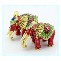Wholesale Elephant shape Metal jewelry box for decoration from china suppliers
