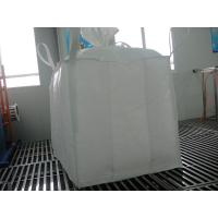 Quality 1 tonne Polypropylene PP bulk bags , 4-panel baffle FIBC Jumbo bag for sale