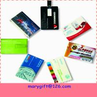 Wholesale Credit card pendrives hotsale flash drives usb flash driver with cheap price from china suppliers