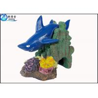 Wholesale Blue Little Shark Personalised Large Fish Tank Ornaments Decorations with Polyresin from china suppliers