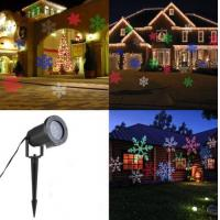 Quality LED Light Moving Snowflake Landscape Laser Projector Lamp Outdoor Garden Xmas for sale