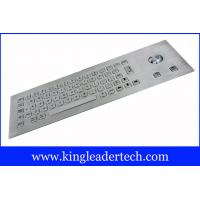Quality Water-proof 64 Stainless Steel Keys Metal Industrial Keyboard With Trackball for sale