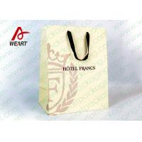 Wholesale Customized Art Paper Bags , Surface UV Spoting Sturdy Gift Bags With Cotton Ribbon from china suppliers