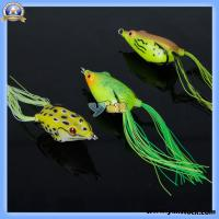 Wholesale Bass Frog Topwater Stainless Steel Sharp Fishing Lure Bait Yellow Black White-89004232 from china suppliers