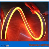 Wholesale Topsung lighting 12v orange 100m mini double sided led neon rope strip waterproof 8.5*18mm light from china suppliers