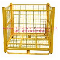 Wholesale easy to operation folding metal wire container from china suppliers